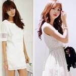 Thời trang - Dịu dàng và thanh nhã với váy ren trắng