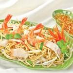 Ẩm thực - Nộm hoa chuối hải sản