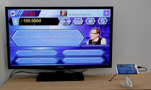 Cơn sốt điện thoại xuất 100% nội dung lên tivi - 2