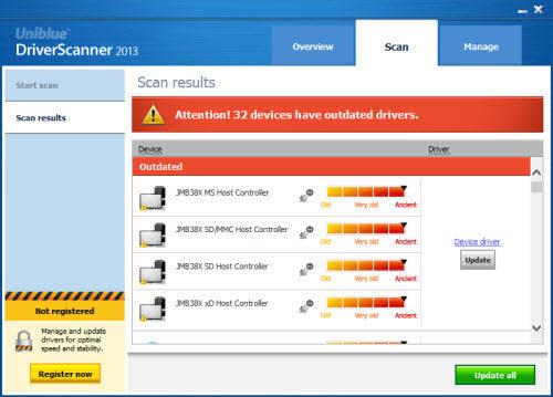 Cập nhật driver mới nhất với DriverScanner 2013 - 1