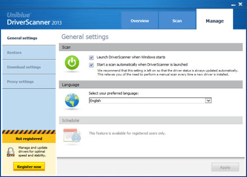 Cập nhật driver mới nhất với DriverScanner 2013 - 2