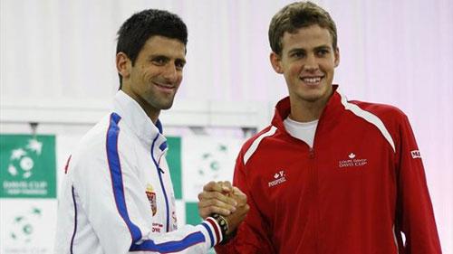 Djokovic - Pospisil: Khởi đầu như mơ (BK Davis Cup) - 1