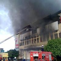 Trung tâm thương mại Hải Dương cháy dữ dội