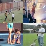 Top clip: Người mù xem múa cột