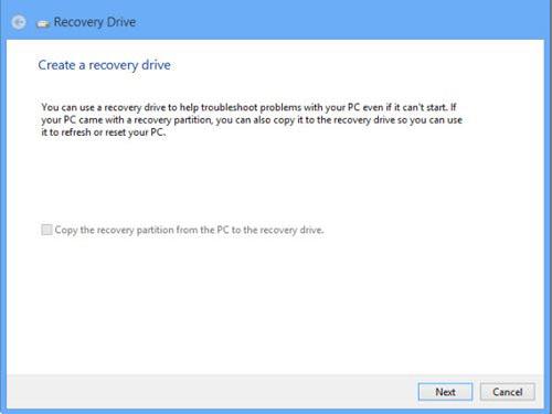 Tạo ổ đĩa USB phục hồi Windows 8 - 3