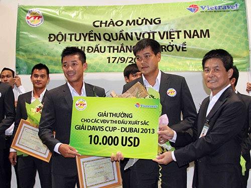 Đội tuyển quần vợt nam được thưởng 200 triệu đồng - 1