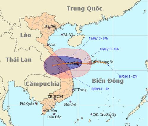 Bão số 8 tiến vào Quảng Trị - Quảng Nam - 1