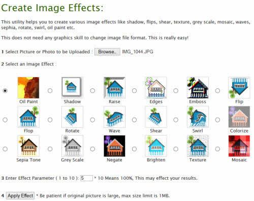 Xử lý ảnh trực tuyến với 18 hiệu ứng miễn phí - 1