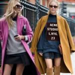 Thời trang - Áo dạ dáng suông tấp nập xuống phố