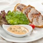 Ẩm thực - Đùi gà nhồi nấm chiên giòn