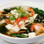 Ẩm thực - Canh tôm rong biển, tổng hòa hương vị