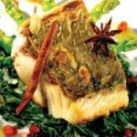 Ẩm thực - Cá chẽm xốt quế thơm ngon, béo ngọt