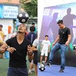 Bóng đá - Anh Khoa và Việt Thắng đọ tài tâng bóng