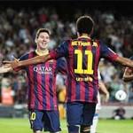 Bóng đá - Marc Bartra che mờ bóng Messi