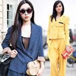 """Thời trang - Ngắm nàng mặc vest """"chất chơi"""" trên phố"""