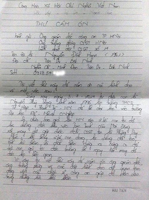 Cảm động những lá thư thí sinh thi đại học gửi CSGT - 4