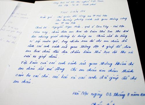 Cảm động những lá thư thí sinh thi đại học gửi CSGT - 5