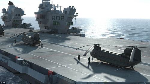 Nữ hoàng Anh bấm nút đặt tên cho tàu sân bay khổng lồ - 11
