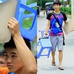Bạn trẻ - Cuộc sống - Đội ghế, mặc quần ngố đi thi đại học