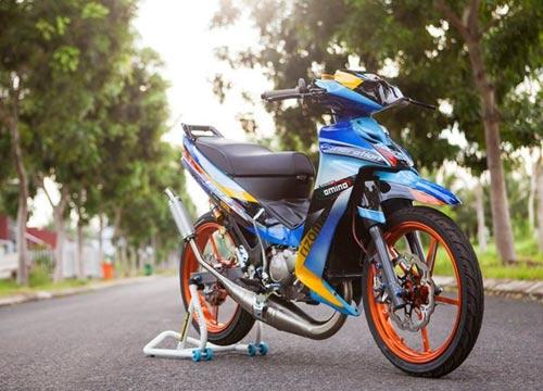 Yamaha Z độ hiệu ứng gân hoa hồng của biker Sóc Trăng - 1