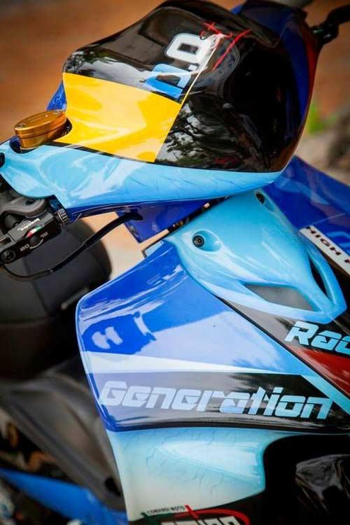 Yamaha Z độ hiệu ứng gân hoa hồng của biker Sóc Trăng - 2