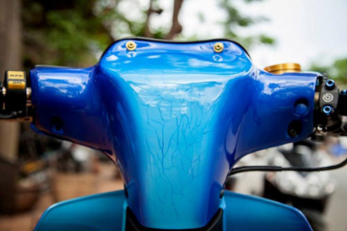 Yamaha Z độ hiệu ứng gân hoa hồng của biker Sóc Trăng - 3