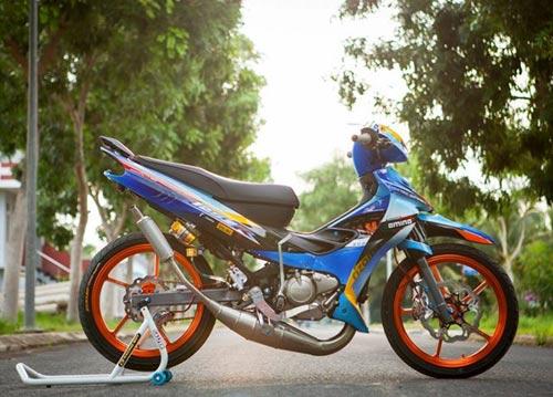 Yamaha Z độ hiệu ứng gân hoa hồng của biker Sóc Trăng - 4