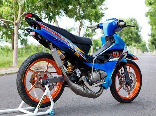 Yamaha Z độ hiệu ứng gân hoa hồng của biker Sóc Trăng - 5
