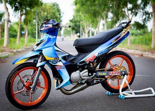 Yamaha Z độ hiệu ứng gân hoa hồng của biker Sóc Trăng - 6