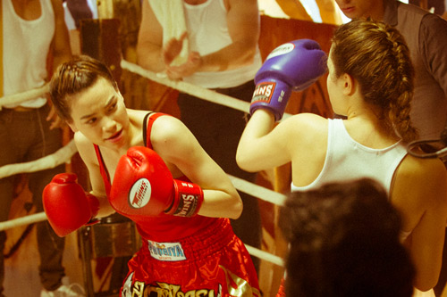 """Hà Hồ """"máu lửa"""" trên sàn boxing - 2"""