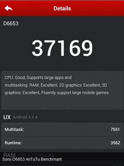 Sony Xperia Z3 lộ điểm AnTuTu cực mạnh - 2