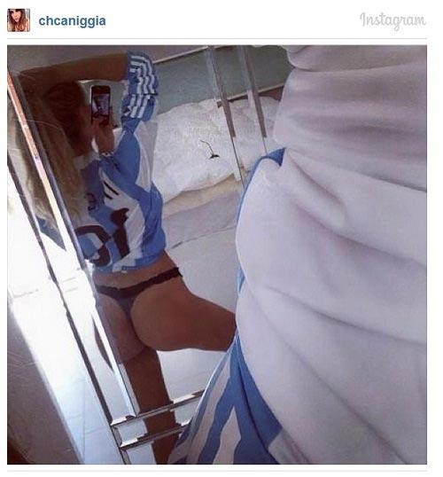 """Người đẹp Caniggia gửi tin """"cực hot"""" tới Messi - 1"""