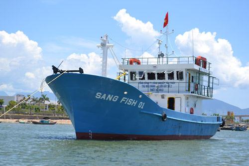 Cận cảnh tàu cá vỏ sắt đầu tiên sắp vươn khơi - 7