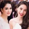 Thủy Tiên đọ sắc với Hoa hậu cùng tuổi Nguyễn Thị Huyền