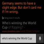 QC trực tuyến - 'Trợ lý ảo' Cortana dự đoán Đức vô định World Cup