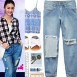 """Thời trang - Gợi ý mặc """"chất"""" với quần jean rách"""