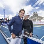 Thể thao - Federer & Lindsey Vonn đánh tennis trên dãy An-pơ