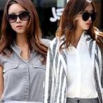 Thời trang - Trở thành quý cô công sở với 3 màu xám, trắng, đen