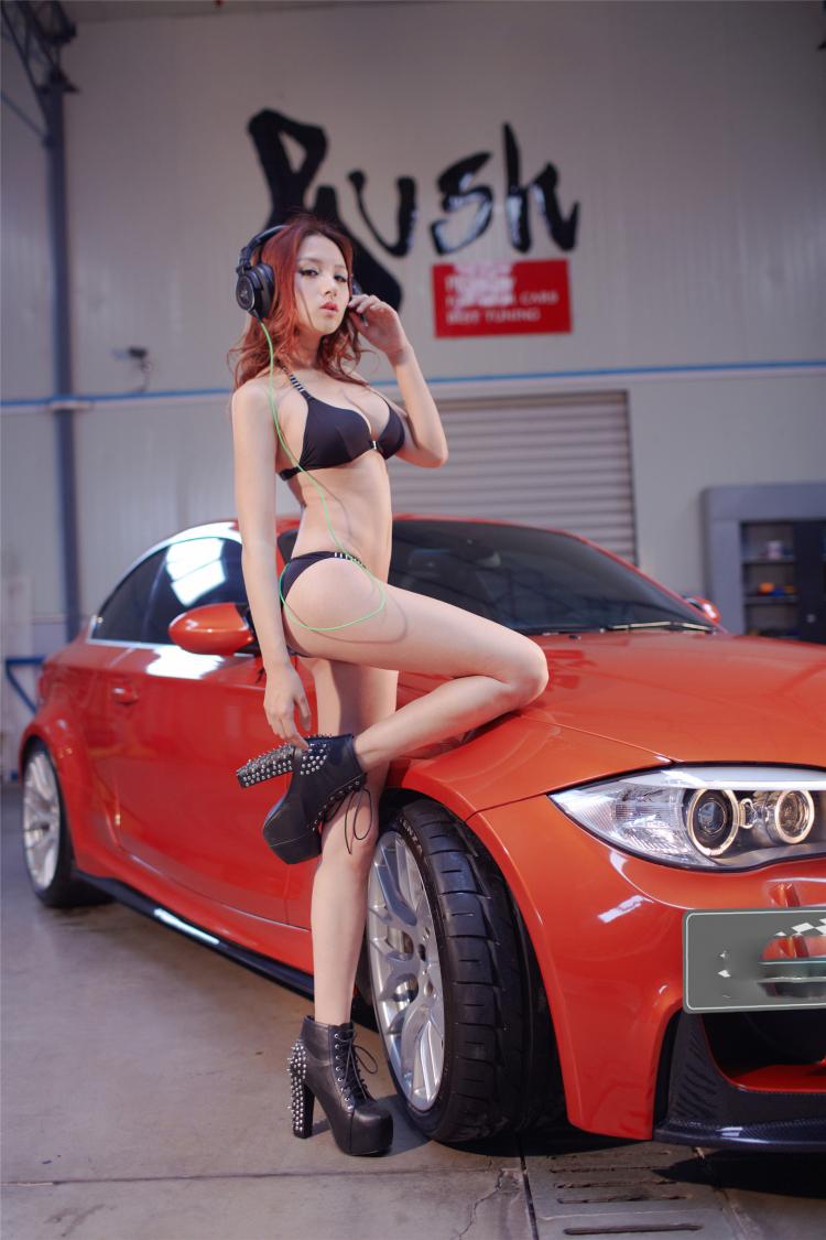 Sôi sục bộ ảnh thiếu nữ tạo dáng bên BMW - 6