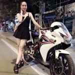Bạn trẻ - Cuộc sống - Thiếu nữ Huế xinh đẹp cá tính chơi mô tô hầm hố