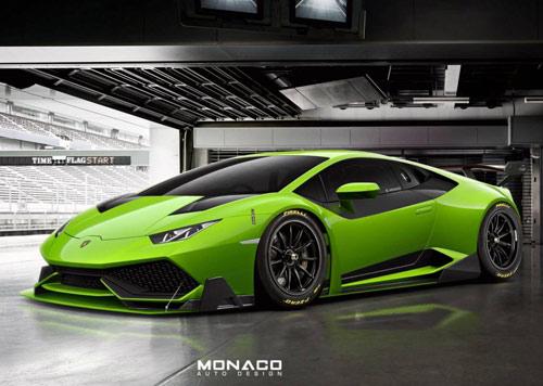 Lamborghini Huracan Super Trofeo màu xanh chuối lộ diện - 1