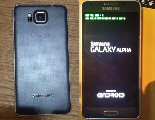 Lộ ảnh Galaxy Alpha khung kim loại, màn hình 4,7 inch - 1