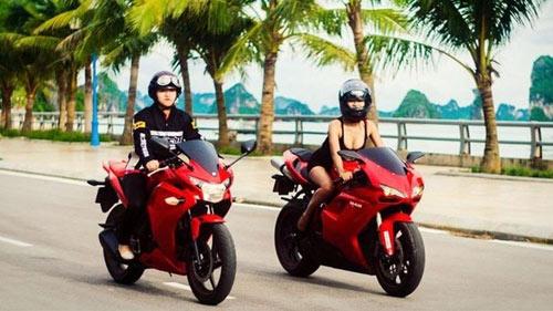 """Những hot girl 9x """"nên duyên"""" với xe môtô - 1"""