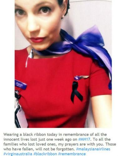 Tiếp viên hàng không thế giới đồng loạt đeo ruy băng đen - 4