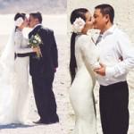 Phim - Kim Hiền say đắm hôn chồng sắp cưới trên sa mạc