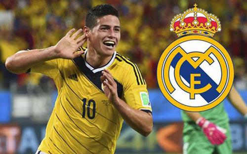 Real Madrid tốn 165 triệu euro vì James Rodriguez - 1
