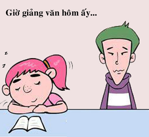 Truyện tranh: Bạn gái ngủ trong lớp, phải làm gì? - 1