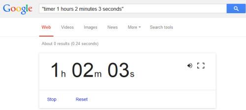 Hẹn giờ đếm lùi bằng Google Search - 1