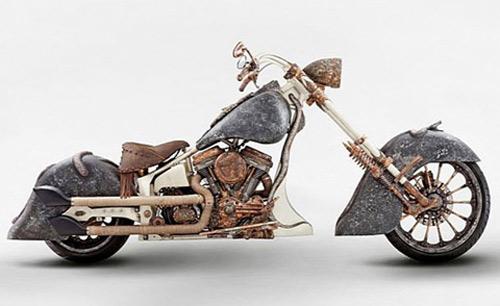 Chiếc xe máy đắt nhất thế giới làm từ hàng trăm kilogam vàng - 3