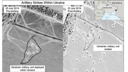 Mỹ công bố ảnh cáo buộc Nga nã pháo vào Ukraine - 1